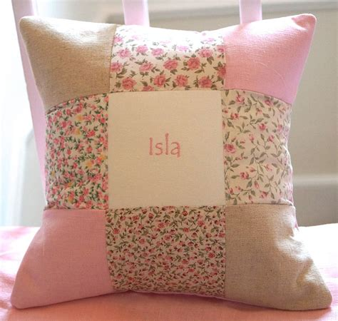 Patchwork Designs For Cushions - patchwork name cushion by tuppenny house designs