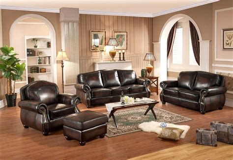 traditional sofa set 3 piece hyde full leather traditional sofa set