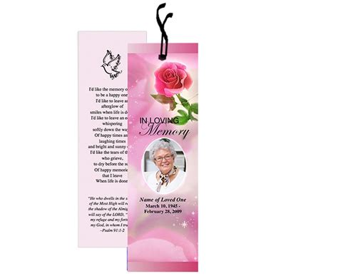 memorial bookmarks template free 12 best memorial bookmarks printable templates images on