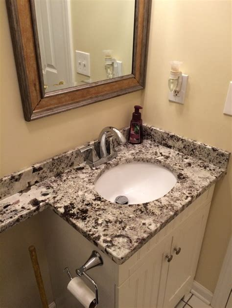 banjo countertops bathroom 3cm alaska white granite banjo vanity top with a 15x12