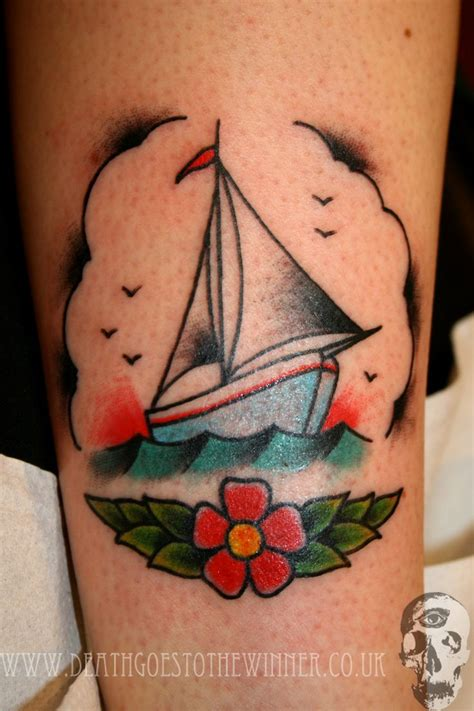 boat tattoos come sail away traditional boat tattoos and boats