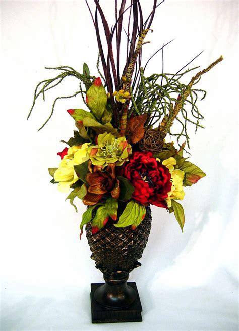 how to make tall flower arrangement in urn youtube williamsburg old world tuscan centerpiece silk floral