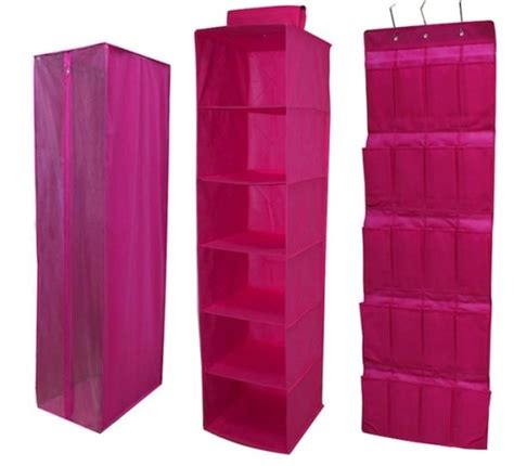 pink hanging closet organizer hanging closet storage set cheap prices fast delivery