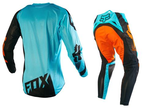 fox motocross gear sets fox racing new 2016 mx 360 shiv aqua orange ktm bmx