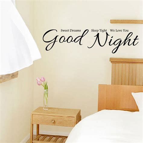 bedroom decals for adults good night wall stickers home decor house decorative