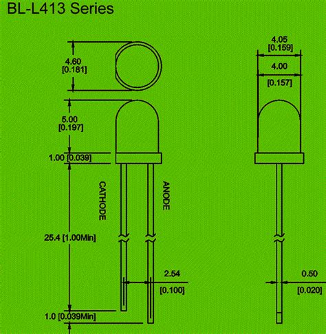 led diode wiring diagram 4mm led diode circuit and dimension