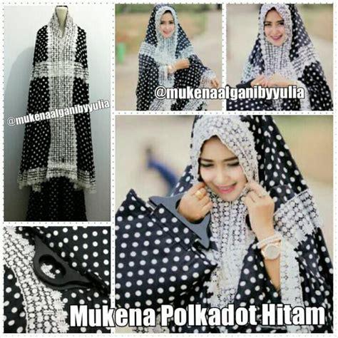 Mukena Al Jannahjilbabmukenadressgamis Wanita Muslim Modern baju muslim modis mukena al ghani polka hitam grosir