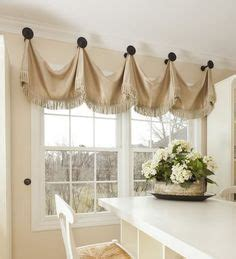 curtain hanging ideas windowtreatments box pleat valance with black accent