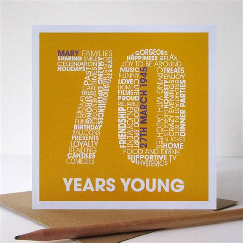 70th Birthday Card Personalised 70th Birthday Card By Mrs L Cards