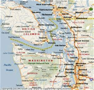map of seattle washington to vancouver canada b c