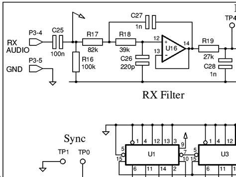 modem circuit diagram 9600 baud packet radio modem design