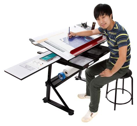 artist drafting table glass drawing drafting table desk