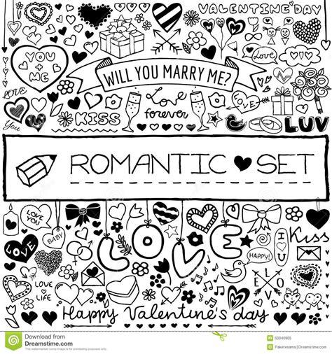 doodle romantis doodle set stock vector image 50040905