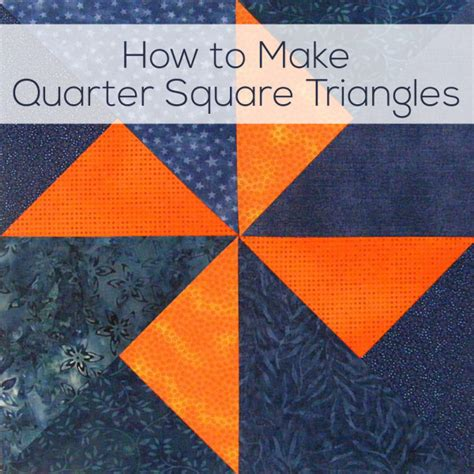 how to make quarter square triangles video and cheat sheet shiny happy world