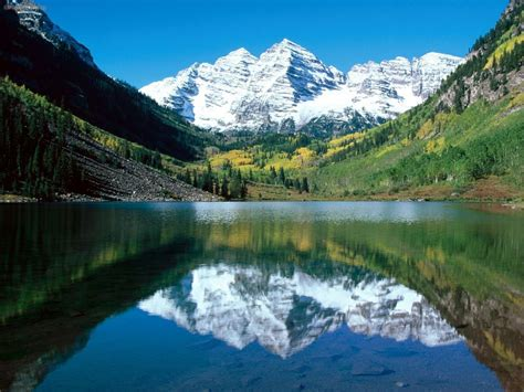 Naura Maroon nature snow capped maroon bells white river national