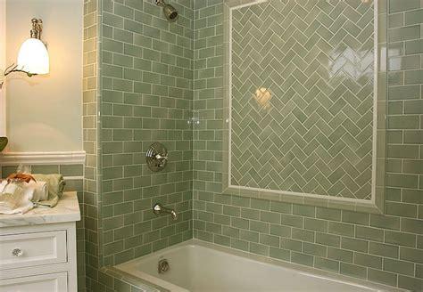 bathroom tile glaze green subway tile bathroom design ideas