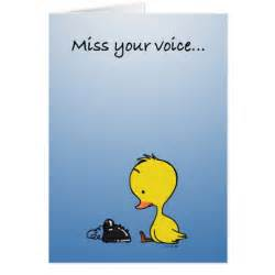 miss your voice greeting card zazzle