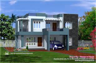 simple home design kerala simple contemporary style villa plan kerala home design