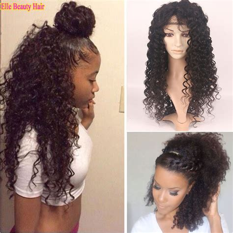 how to glue in hair for black women deep curly free glue full lace human hair wigs for black
