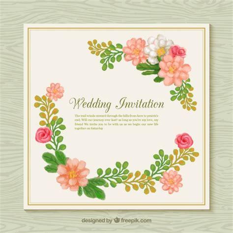 flower wedding invitation vector flower wedding invitation vector free