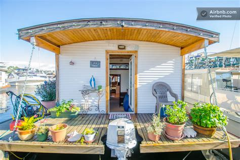 tiny house vacation rentals barge tiny house vacation rental on wheels or on the water