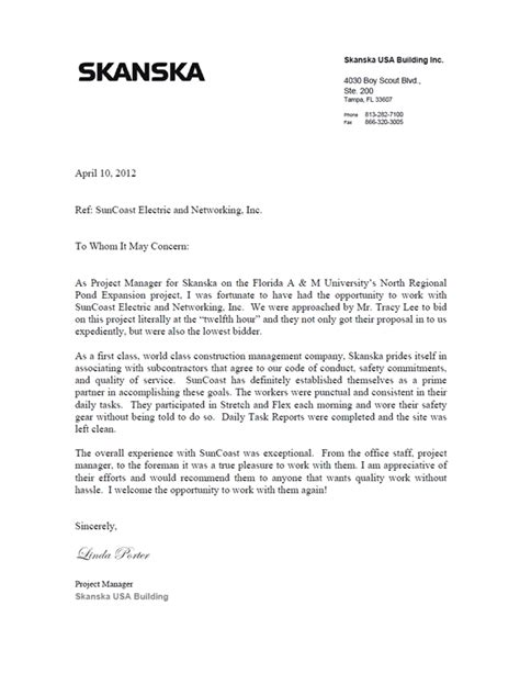 Reference Letter Exle From A Manager Project Reference Letter Letters Font