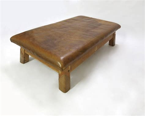 leather benches for sale vintage leather gym bench or table circa 1940 for sale at