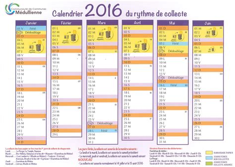 Calendrier Om 2016 Calendrier De Collectes