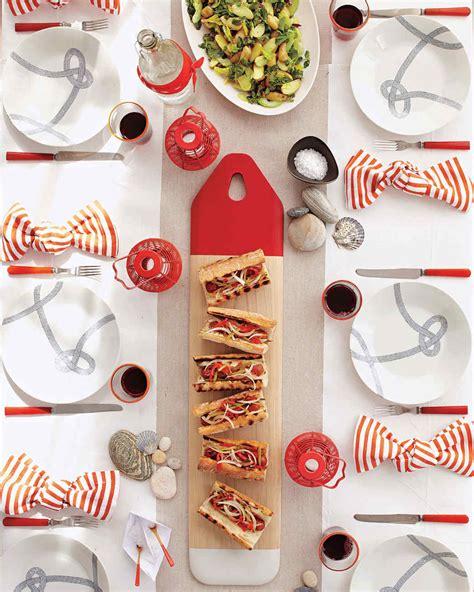 Fourth Of July Menu Martha Stewart | red white and blue nautical party martha stewart