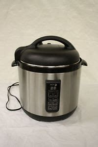 kitchen pro pressure cooker manual fagor 6 qt electric multi cooker brushed stainless rice pressure cooker ebay