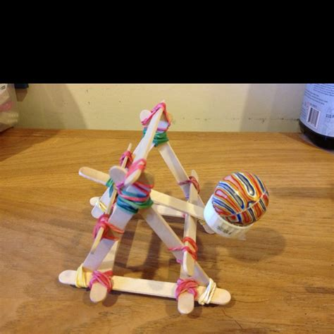 popsicle crafts projects catapult from popsicle sticks and rubber bands cool