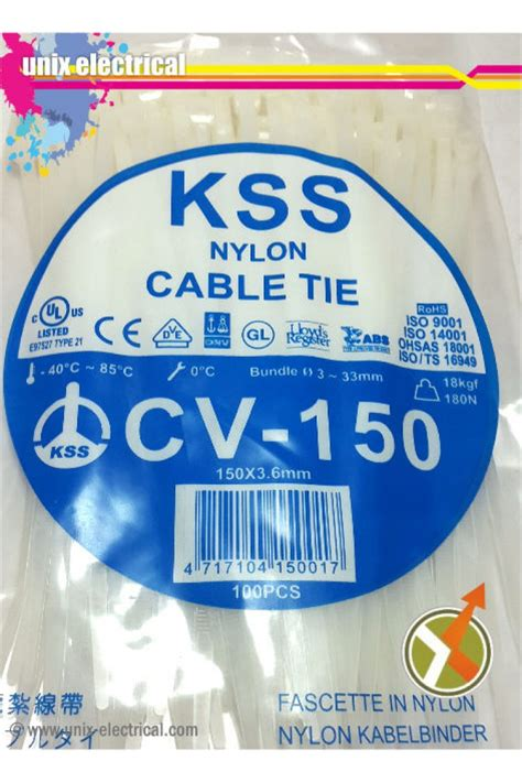 Cable Ties Kabel Tis Pengikat Putih 150 Mm X 36 Mm cable ties cv 150 kss