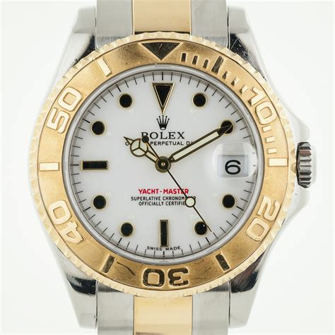 Rolex 925 Box Kancing rolex yacht master midsize 168623 18k gold and stainless steel box and manual