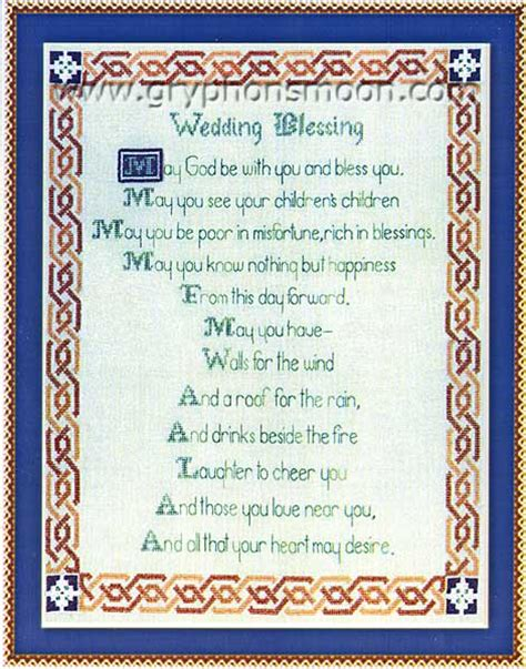 Wedding Blessing Scottish by Celtic Wedding Blessing Cross Stitch Pattern At Gryphon S Moon
