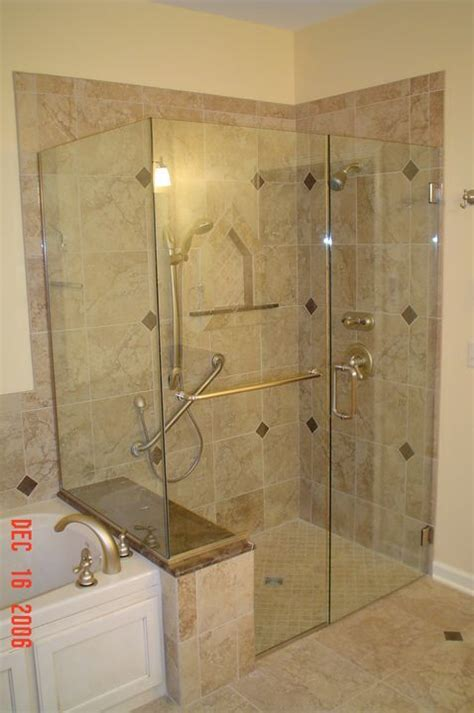 custom shower stalls with seat walk in shower enclosures with seat search