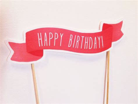 printable birthday banner cake topper happy birthday cake topper banner birthdays pinterest