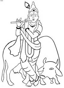 Outline Pictures Of God Krishna by Shri Krishna Janmashtami Coloring Printable Pages For Family Net Guide To Family