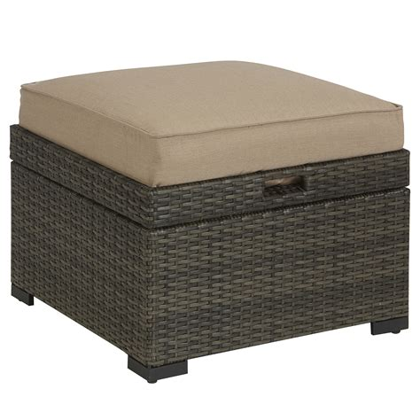 ottoman with storage tray grand resort monterey cushioned ottoman with storage