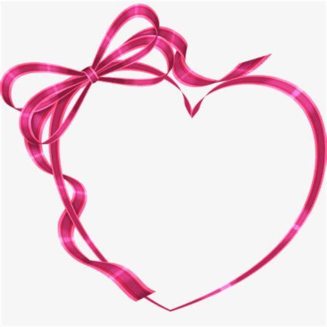 Heart shaped ribbon bow, Ribbon, Silk, Lovely Ribbon PNG