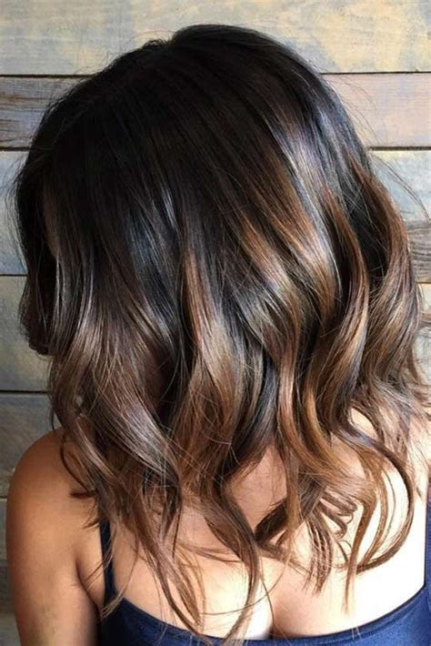 medium haircut balaige 35 balayage hair ideas in brown to caramel tone balayage