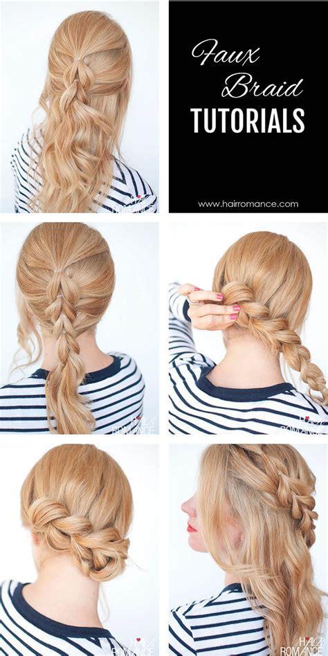 easy braided hairstyles tutorials the no braid braid 5 pull through braid tutorials hair