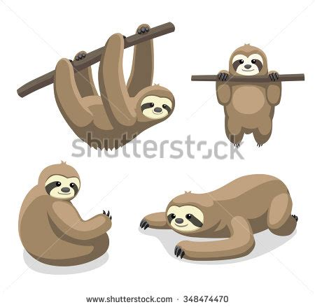 sloth clipart sloth vector illustration 1 sloth