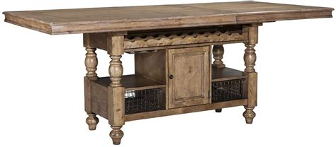 Kitchen Island Gathering Table by Intercon Lake House Counter Height Gathering Island Table