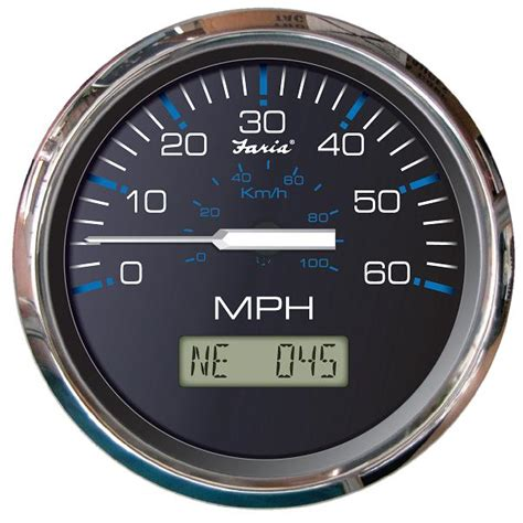 gps boat speedometer faria chesapeake black ss 60 mph gps speedometer with