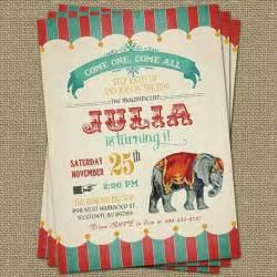 circus invitation theme circus