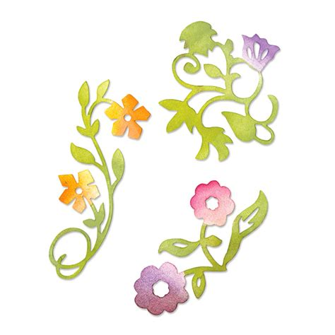 sizzix sizzlits doodle dies flower set sizzix flower vines set sizzlits medium die