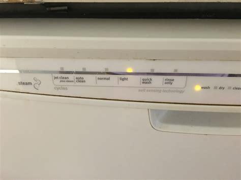 panel lights maytag dishwasher panel lights flashing