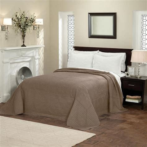 oversized matelasse coverlet king country french taupe brown oversized queen bedspread