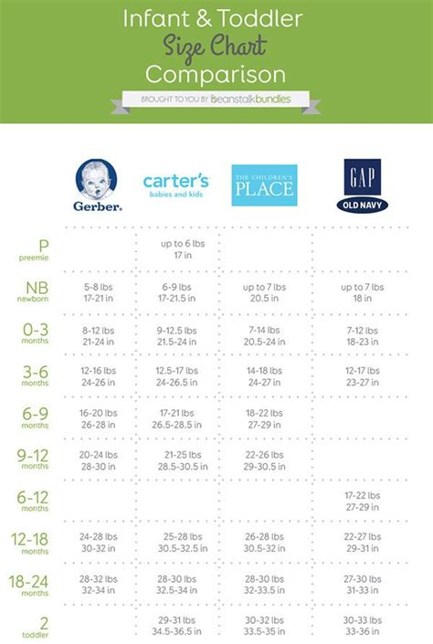 toddler clothes sizes best 25 baby size chart ideas on pregnancy fruit pregnancy growth chart and