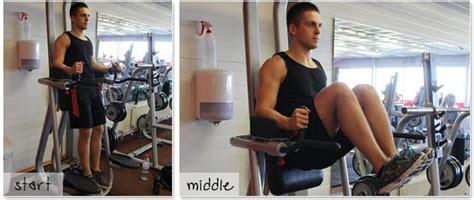 captains chair knee raise   effective  crunches